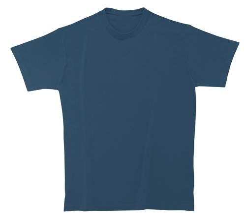 Bavlněné dětské tričko 185 g transparentní modré