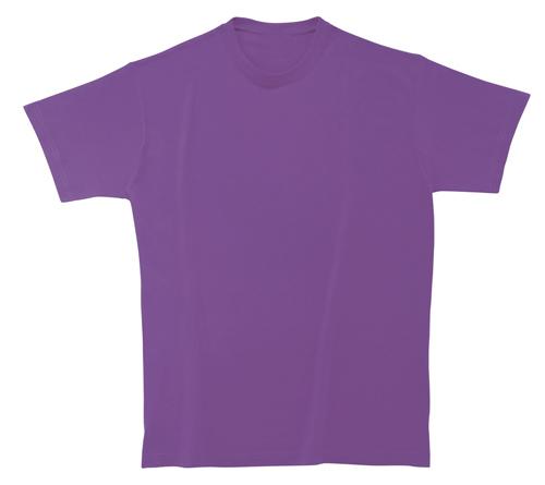 Bavlněné dětské tričko 185 g transparentní fialové