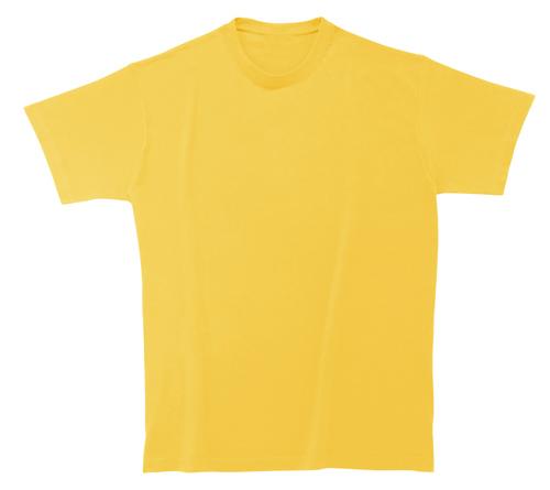 Bavlněné dětské tričko 185 g matně žluté