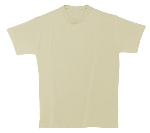 Bavlněné dětské tričko 185 g světle žluté