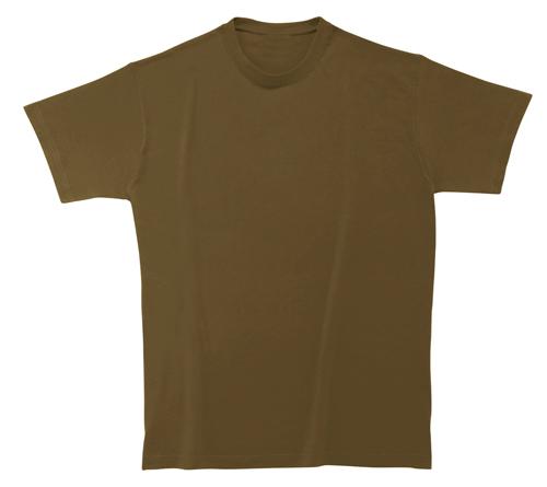Softstyle Mens tričko hnědé