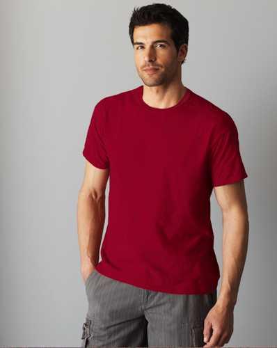 Softstyle Mens tričko vínové