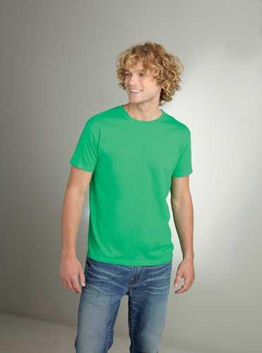 Softstyle Mens tričko matně zelené
