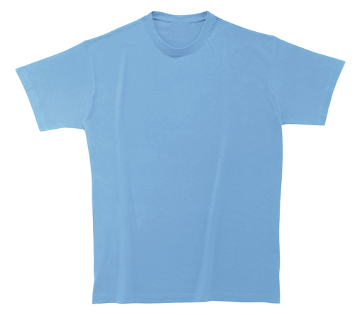 Softstyle Mens tričko světle modré s potiskem