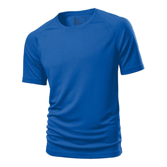 Unisex modré sportovní tričko Hanes 145