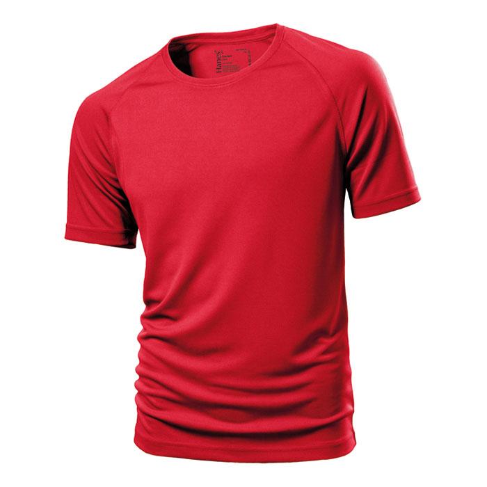 Unisex červené sportovní tričko Hanes 145