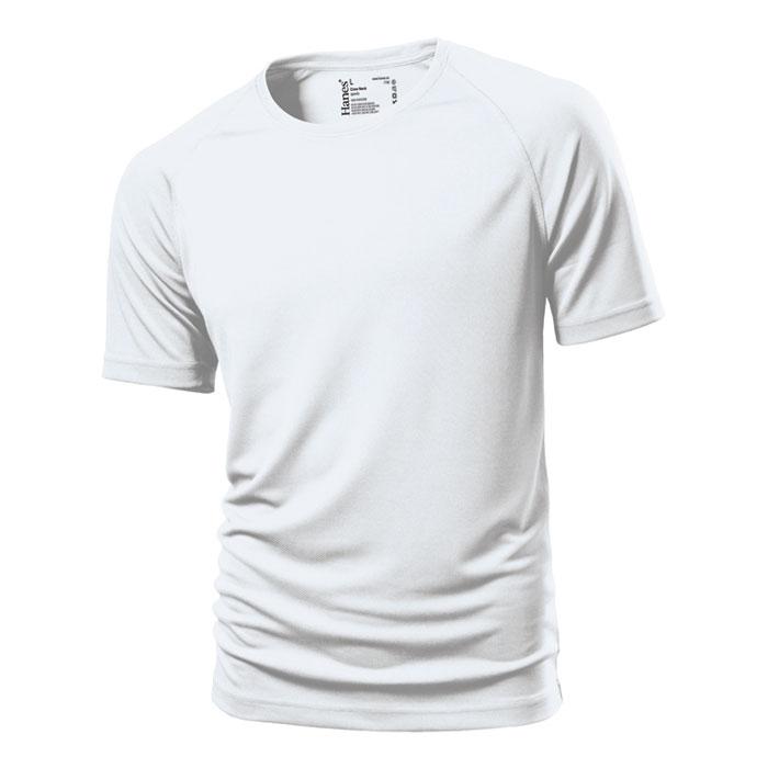 Unisex bílé sportovní tričko Hanes 145