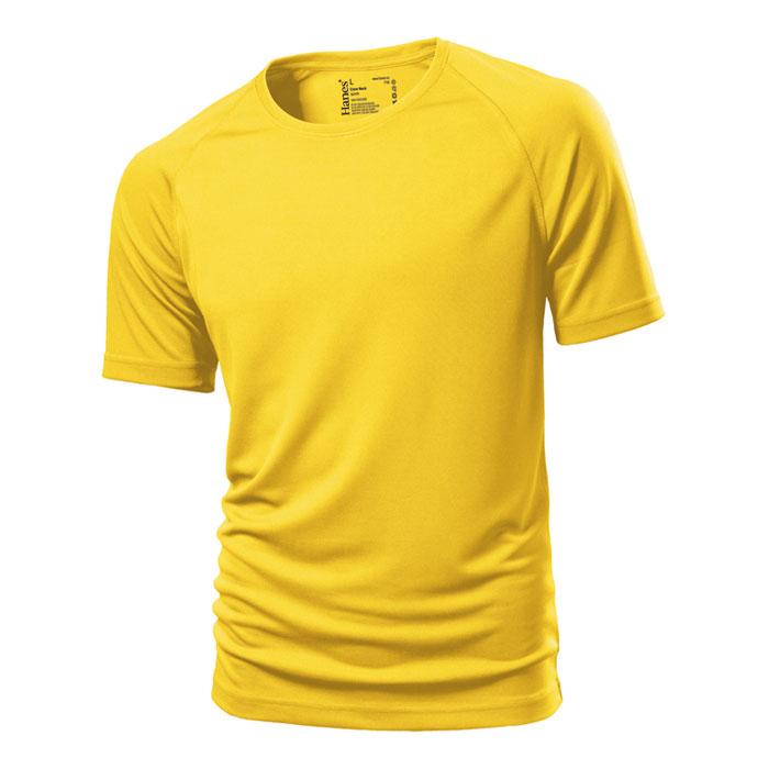 Unisex žluté sportovní tričko Hanes 145