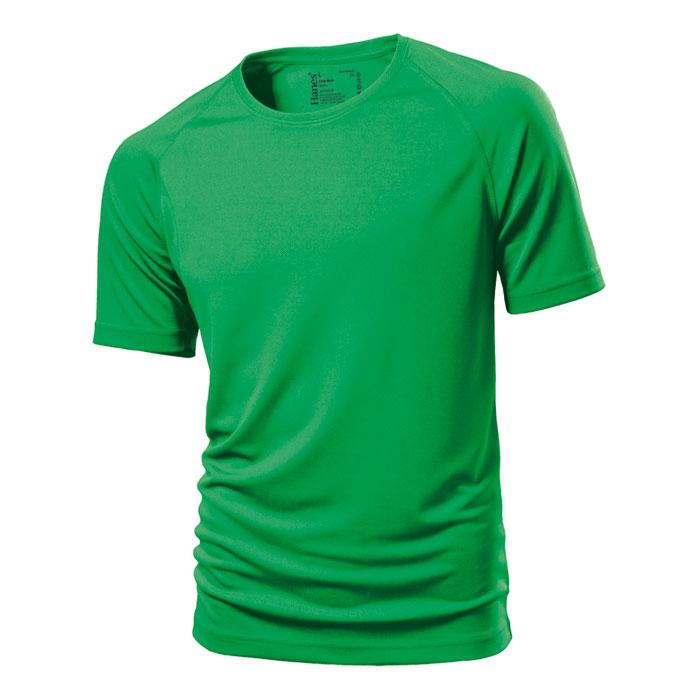 Unisex zelené sportovní tričko Hanes 145