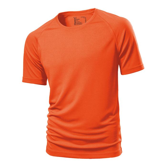 Unisex oranžové sportovní tričko Hanes 145 s potiskem