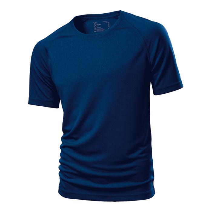 Unisex tmavě modré sportovní tričko Hanes 145