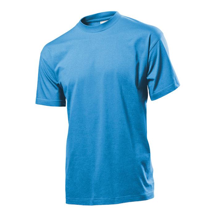 Pánské tričko Stedman 155 světle modré s potiskem