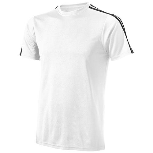 CoolFit triko Baseline bílo-černé s potiskem