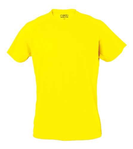 Světle žluté Tecnic Plus T tričko, pracovní oděv pro dospělé