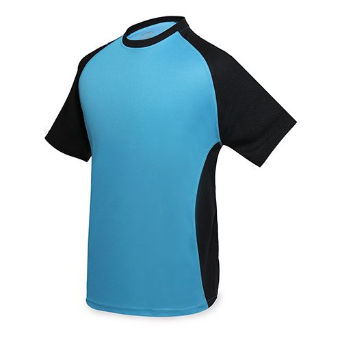 Dvoubarevné sportovní triko modré
