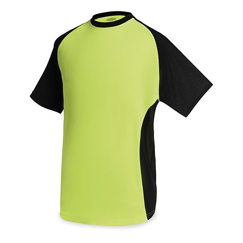 Dvoubarevné pásnké triko zelená/černá