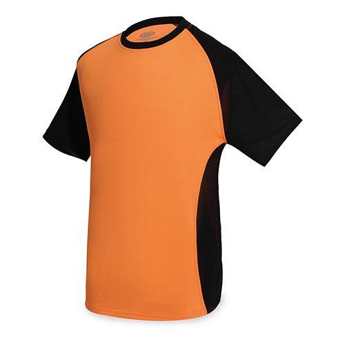 Dvoubarevné sportovní triko oranžové