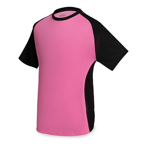 Dvoubarevné sportovní triko růžové