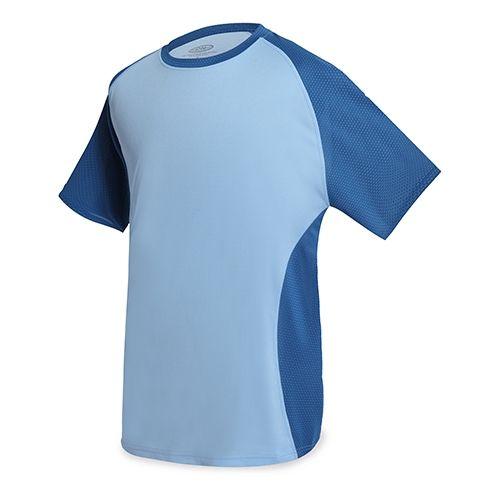 Dvoubarevné sportovní triko světle modré