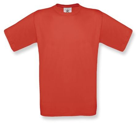 EXACT unisex tričko, 145 g/m2, BC, červená
