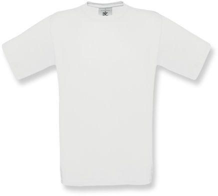 EXACT unisex tričko, 145 g/m2, BC, bílá