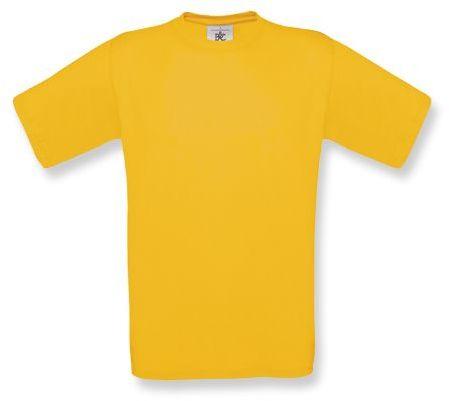 EXACT unisex tričko, 145 g/m2, BC, žlutá