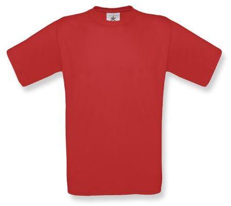 EXACT unisex tričko, 145 g/m2, BC, tmavě červená