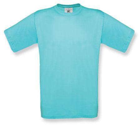 EXACT unisex tričko, 145 g/m2, BC, světle tyrkysová
