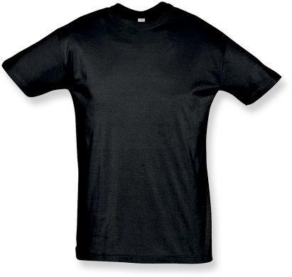 REGENT unisex tričko 150 g/m2, SOLS, černá