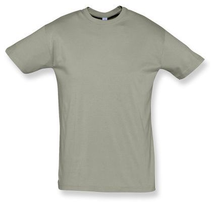 REGENT unisex tričko 150 g/m2, SOLS, khaki s potiskem