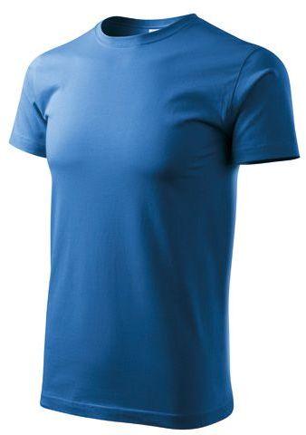 BASIC T-160 unisex tričko 160 g/m2, ADLER, azurově modrá