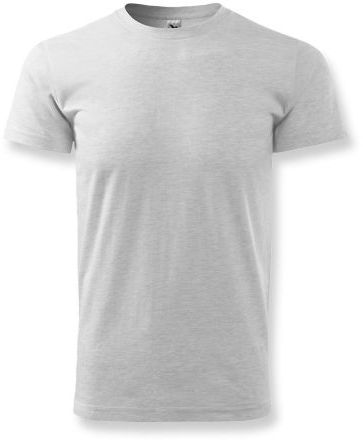 BASIC T-160 unisex tričko 160 g/m2, ADLER, světle šedý melír