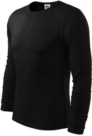 FIT-T LONG 160 pánské tričko 160 g/m2, ADLER, černá