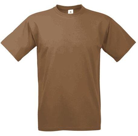 EXACT 190 unisex tričko, 190 g/m2, BC, hnědá