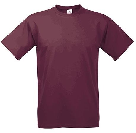 EXACT 190 unisex tričko, 190 g/m2, BC, bordó