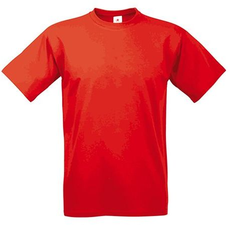 EXACT 190 unisex tričko, 190 g/m2, BC, červená