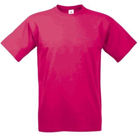 EXACT 190 unisex tričko, 190 g/m2, BC, tmavě růžová