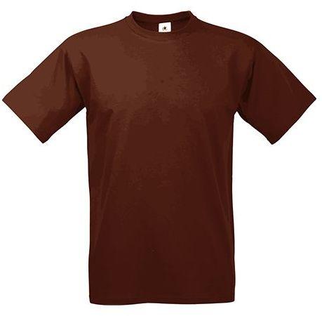 EXACT 190 unisex tričko, 190 g/m2, BC, tmavě hnědá