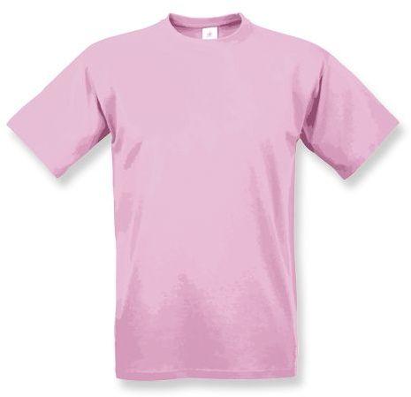 EXACT 190 unisex tričko, 190 g/m2, BC, růžová