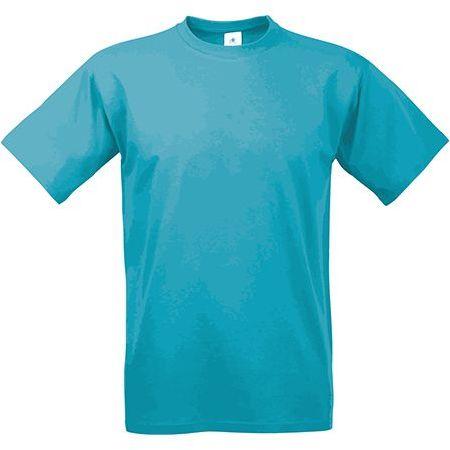 EXACT 190 unisex tričko, 190 g/m2, BC, azurově modrá