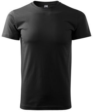 SHIRTY unisex tričko, 200 g/m2, ADLER, černá