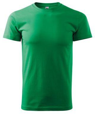 SHIRTY unisex tričko, 200 g/m2, ADLER, zelená s potiskem