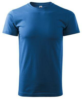SHIRTY unisex tričko, 200 g/m2, ADLER, azurově modrá