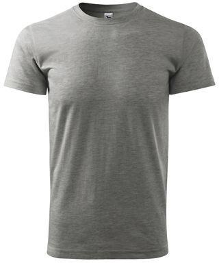SHIRTY unisex tričko, 200 g/m2, ADLER, tmavě šedý melír