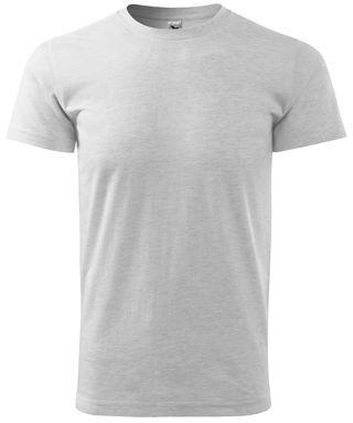 SHIRTY unisex tričko, 200 g/m2, ADLER, světle šedý melír