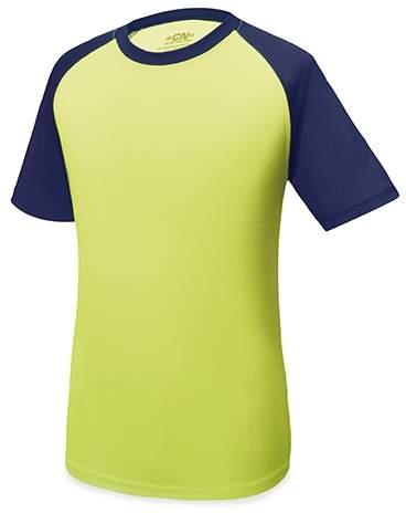 Dvoubarevné tričko, žlutá/modrá