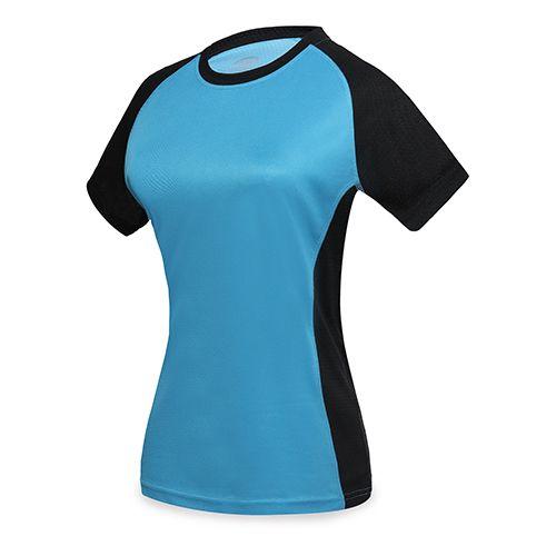 Dvoubarevné sportovní triko modré dámské