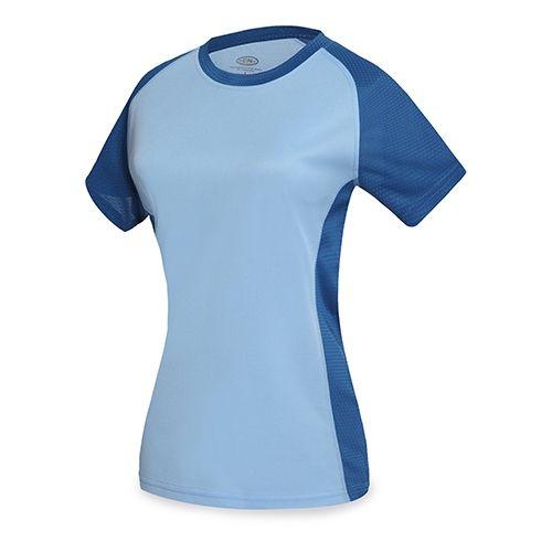 Dvoubarevné sportovní triko světle modré dámské
