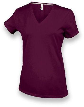 WOMY dámské tričko, 180 g/m2, KARIBAN, bordó