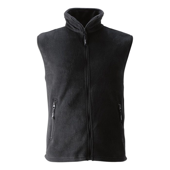 Unisex černá fleece vesta